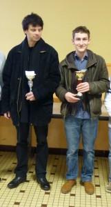 Michael & Corentin lors de la remise des prix